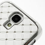 Drahokamové pouzdro pro Samsung Galaxy S4 i9500- bílé - 4/7