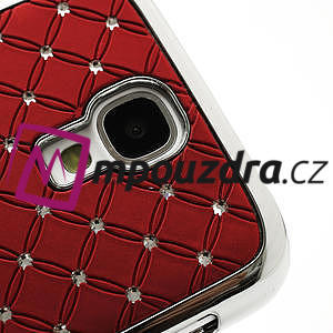 Drahokamové puzdro pro Samsung Galaxy S4 i9500- červené - 4