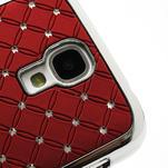 Drahokamové puzdro pro Samsung Galaxy S4 i9500- červené - 4/7
