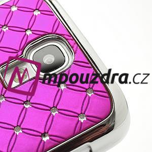 Drahokamové pouzdro pro Samsung Galaxy S4 i9500- růžové - 4