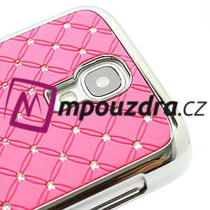 Drahokamové pouzdro pro Samsung Galaxy S4 i9500- světle-růžové - 4