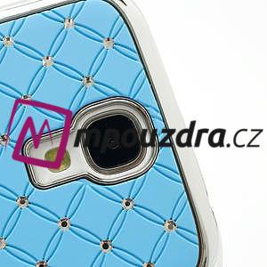 Drahokamové puzdro pro Samsung Galaxy S4 i9500- svetlo-modré - 4