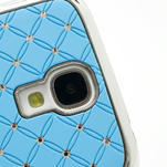 Drahokamové puzdro pro Samsung Galaxy S4 i9500- svetlo-modré - 4/7