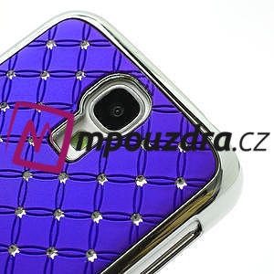 Drahokamové puzdro pro Samsung Galaxy S4 i9500- modré - 4