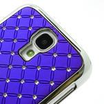 Drahokamové puzdro pro Samsung Galaxy S4 i9500- modré - 4/7