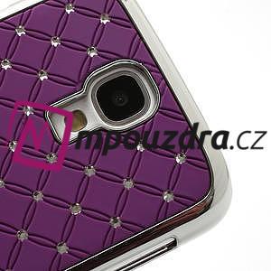 Drahokamové pouzdro pro Samsung Galaxy S4 i9500- fialové - 4