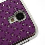Drahokamové pouzdro pro Samsung Galaxy S4 i9500- fialové - 4/7