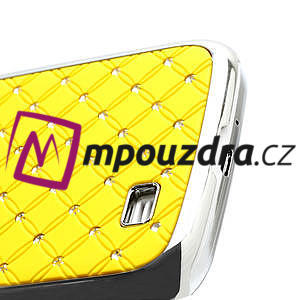 Drahokamové puzdro pro Samsung Galaxy S4 i9500- žlutá - 4