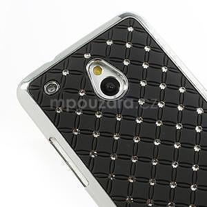Drahokamové puzdro pre HTC one Mini M4- čierné - 4