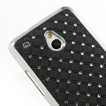 Drahokamové puzdro pre HTC one Mini M4- čierné - 4/5