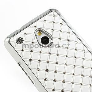 Drahokamové puzdro pre HTC one Mini M4- biele - 4
