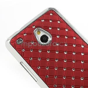 Drahokamové puzdro pre HTC one Mini M4- červené - 4