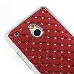Drahokamové puzdro pre HTC one Mini M4- červené - 4/5