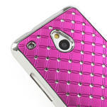Drahokamové puzdro pre HTC one Mini M4- ružové - 4/5
