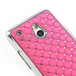 Drahokamové puzdro pre HTC one Mini M4- svetloružové - 4