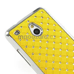 Drahokamové puzdro pre HTC one Mini M4- žlté - 4
