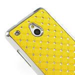 Drahokamové puzdro pre HTC one Mini M4- žlté - 4/5