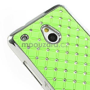 Drahokamové puzdro pre HTC one Mini M4- zelené - 4