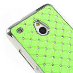 Drahokamové puzdro pre HTC one Mini M4- zelené - 4/5