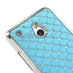 Drahokamové puzdro pre HTC one Mini M4- svetlo modré - 4