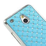 Drahokamové puzdro pre HTC one Mini M4- svetlo modré - 4/5