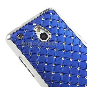Drahokamové puzdro pre HTC one Mini M4- modré - 4