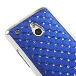 Drahokamové puzdro pre HTC one Mini M4- modré - 4/5