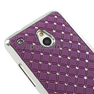 Drahokamové puzdro pre HTC one Mini M4- fialové - 4