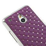 Drahokamové puzdro pre HTC one Mini M4- fialové - 4/5