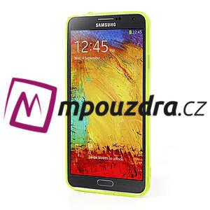 Gélové hybrid puzdro na Samsung Galaxy Note 3- žlté - 4