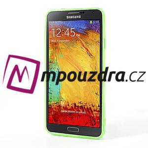 Gélové hybrid puzdro na Samsung Galaxy Note 3- zelené - 4