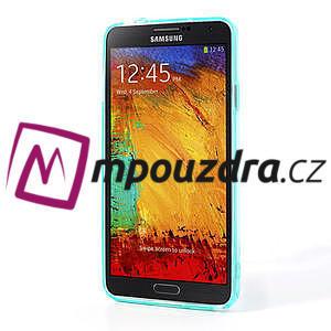 Gélové hybrid puzdro na Samsung Galaxy Note 3- svetlo modré - 4
