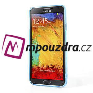 Gélové hybrid puzdro na Samsung Galaxy Note 3- modré - 4