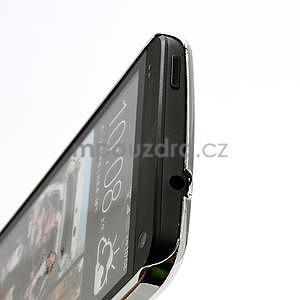 Drahokamové puzdro pre HTC one M7- fialové - 4
