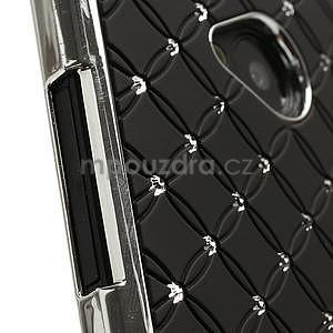 Drahokamové puzdro pre HTC one M7- čierné - 4