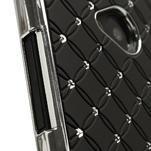 Drahokamové puzdro pre HTC one M7- čierné - 4/7