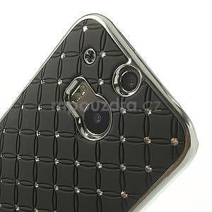 Drahokamové puzdro pre HTC one M8- čierné - 4
