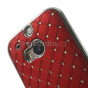 Drahokamové puzdro pre HTC one M8- červené - 4