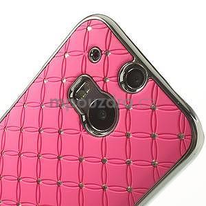 Drahokamové puzdro pre HTC one M8- svetloružové - 4