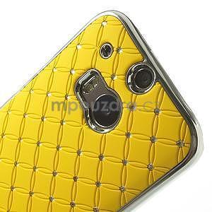 Drahokamové puzdro pre HTC one M8- žlté - 4