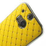 Drahokamové puzdro pre HTC one M8- žlté - 4/6