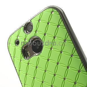 Drahokamové puzdro pre HTC one M8- zelené - 4