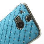 Drahokamové puzdro pre HTC one M8- svetlo modré - 4/6