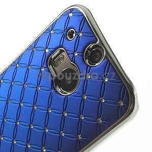 Drahokamové puzdro pre HTC one M8- modré - 4