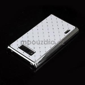 Drahokamové puzdro pre LG Optimus L7 P700- biele - 4