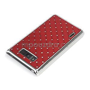 Drahokamové puzdro pre LG Optimus L7 P700- červené - 4