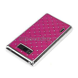 Drahokamové puzdro pre LG Optimus L7 P700- růžové - 4