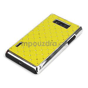 Drahokamové puzdro pre LG Optimus L7 P700- žlté - 4