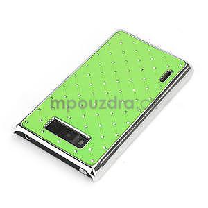Drahokamové puzdro pre LG Optimus L7 P700- zelené - 4