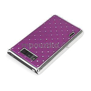 Drahokamové puzdro pre LG Optimus L7 P700- fialové - 4